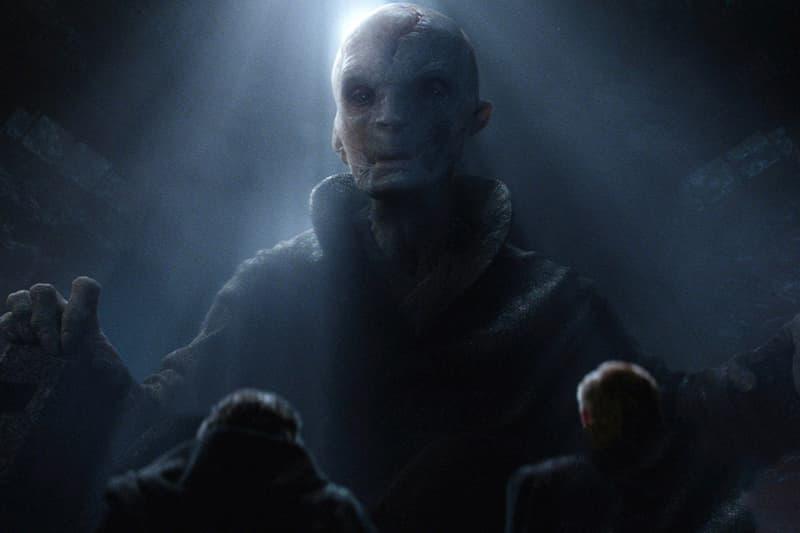 Supreme Leader Snoke Luke Skywalker Images Leaked Star Wars The Last Jedi Rey Finn Kylo Ren