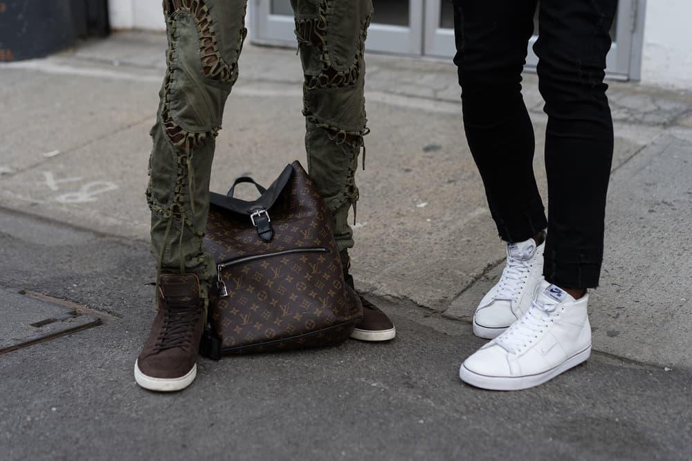 Streetsnaps New York Fashion Week: Men's Street Style Day 3 Off White Louis Vuitton Nike Gucci