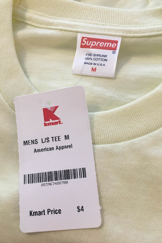 Supreme Blank Long Sleeve T-Shirt Black Kmart Box Logo Medium