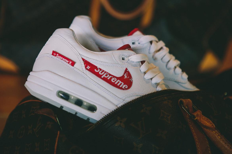 cobija binario Disminución  Supreme x Louis Vuitton x Nike Air Max 1 Custom | HYPEBEAST
