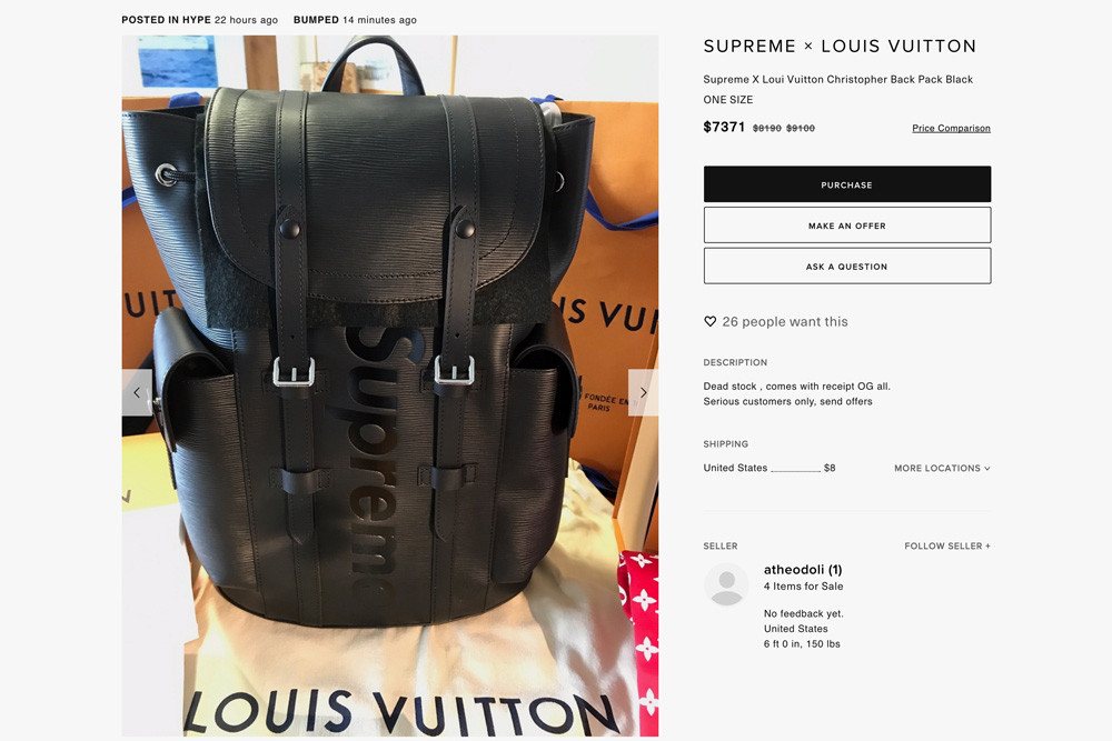 Supreme X Louis Vuitton Absurd Resell Prices | HYPEBEAST