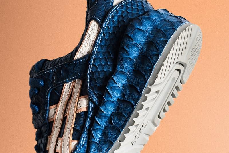 The Shoe Surgeon Ronnie Fieg ASICS GEL Lyte III Salmon Toe Python Leather Custom Sneakers Shoes Footwear