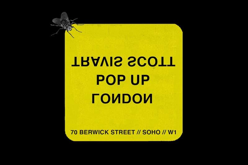 Travis Scott Announces London Pop Up Shop Instagram