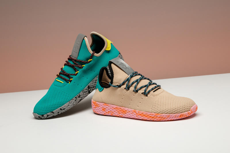 5e99edc00 Unreleased adidas Originals PW Tennis Hu Colorways Pharrell Williams Green  Grey Black Yellow Beige Pink Orange