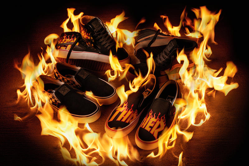 7f2790a45b Thrasher x Vans Sneakers   Apparel Collection