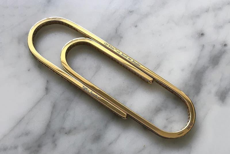 Virgil Abloh Gold Paper