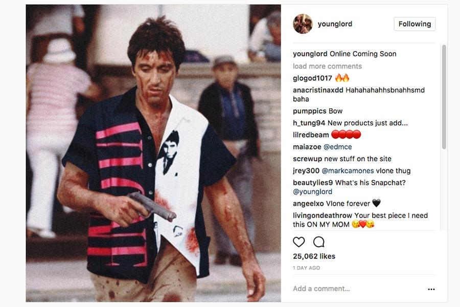 A$AP Bari 率いる VLONE が Tupac by VLONE を再販& Scarface シャツのドロップを発表