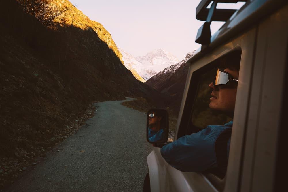 VSCO x Oakley Prizm Road Lens driving on the road