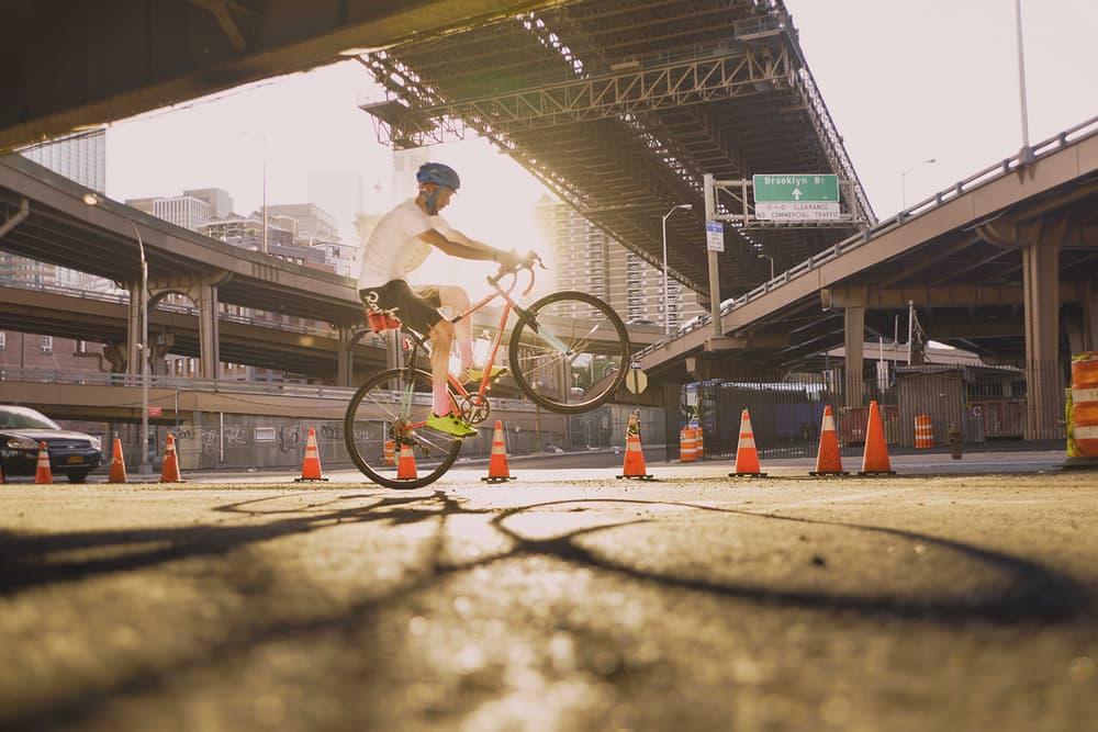 VSCO x Oakley Prizm Road Lens biking underneath highway
