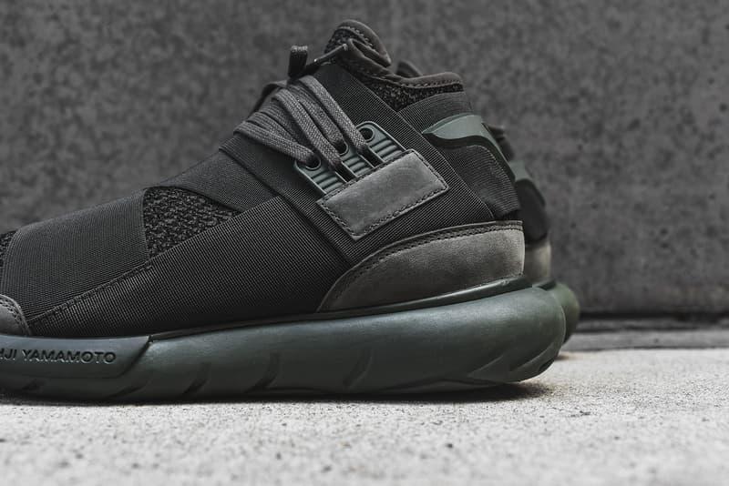 407e80f71e1c adidas Y3 Qasa High Black Olive Yohji Yamamoto adidas Sneakers Footwear  Shoes 2017 July kith