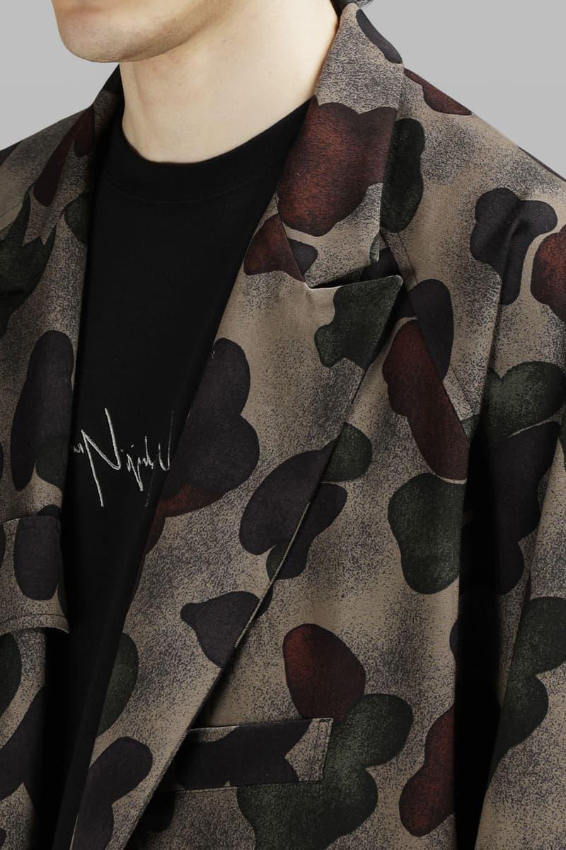 Yohji Yamamoto Reversible Patterned Overcoat