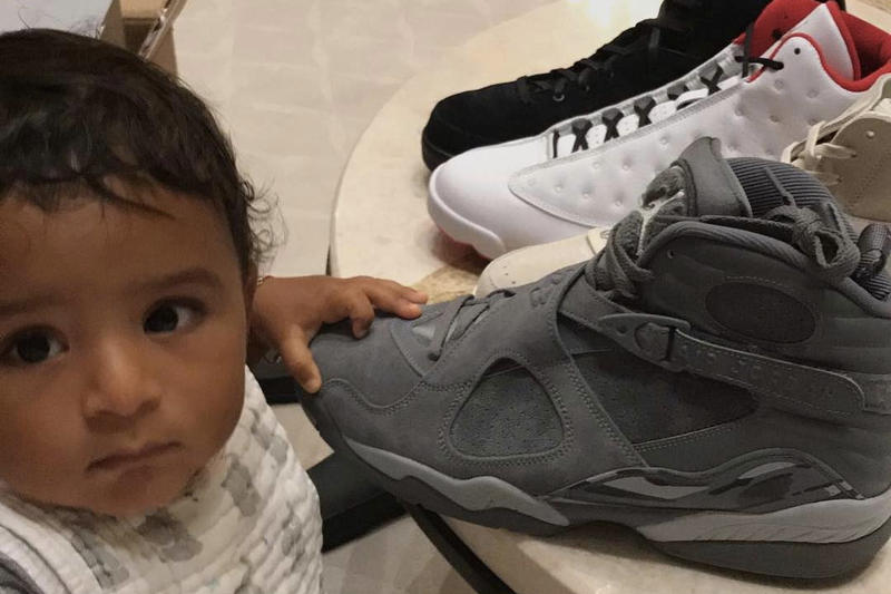 f52f9a2d21b9 DJ Khaled   Asahd Reveal Air Jordan 8 Cool Grey