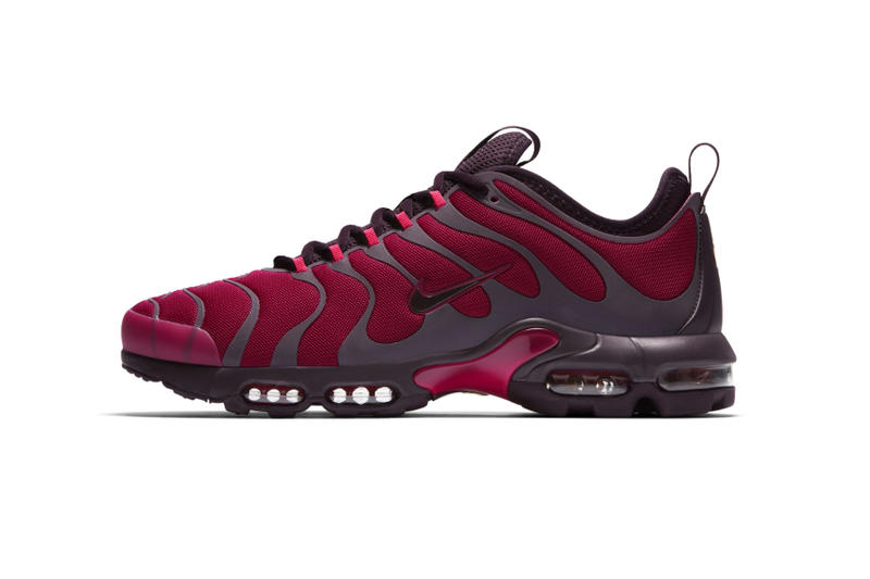 651fb9563b Nike Releases the Air Max Plus TN Ultra in Burgundy. A fresh look for the  old-school runner.