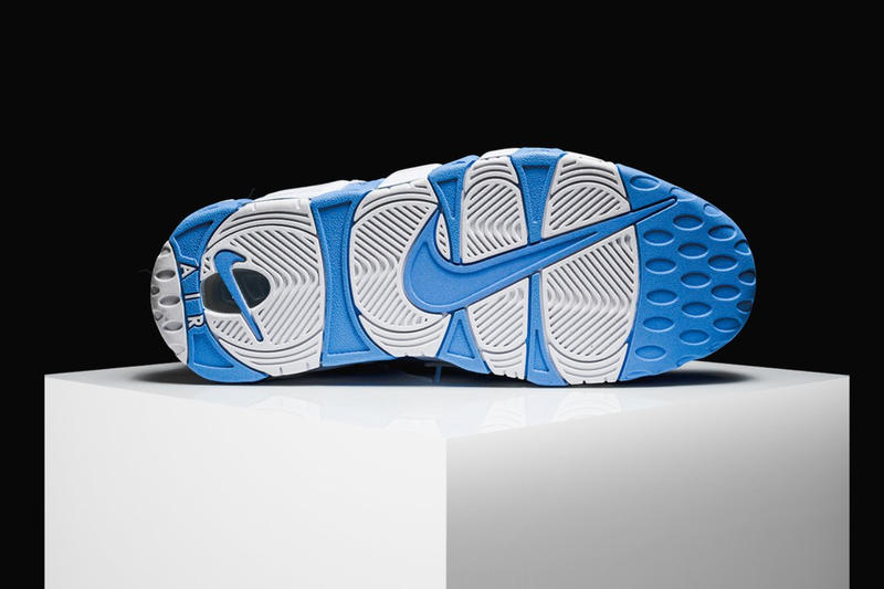 Nike Air More Uptempo University Baby Blue AIR Text on the Side