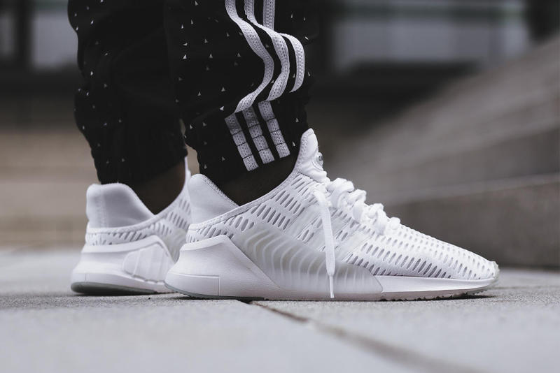 adidas ClimaCool 02 17 Triple White Black On Feet Sneakers Shoes Footwear  2017 August Release Date 77ac530667