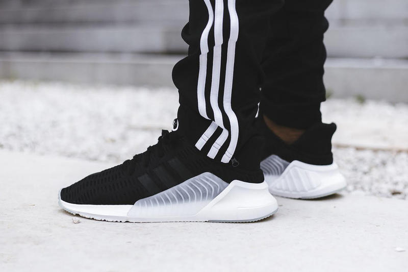 1266e805be2 adidas ClimaCool 02 17 Triple White Black On Feet Sneakers Shoes Footwear  2017 August Release Date