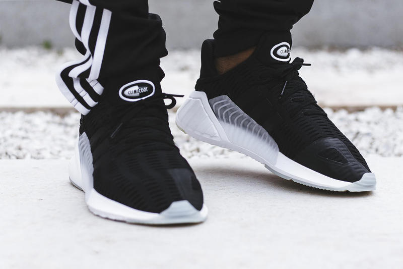 buy popular 04804 0022f adidas ClimaCool 02 17 Triple White Black On Feet Sneakers Shoes Footwear  2017 August Release Date