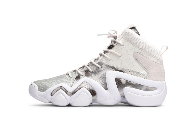 detailed look adf06 5d4e1 adidas Crazy 8 Core White Snakeskin Kobe Bryant Caliroots Sneakers Shoes  Footwear 2017 August Release Date