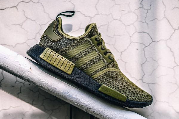 reputable site d5a2a 414a0 adidas NMD R1 in Olive Green With Black BOOST | HYPEBEAST