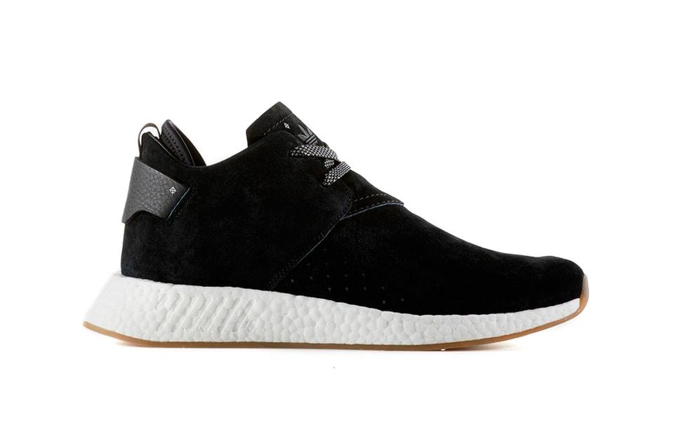 ea8af8c6ee5f4 adidas Originals NMD R2 Black Leather   White