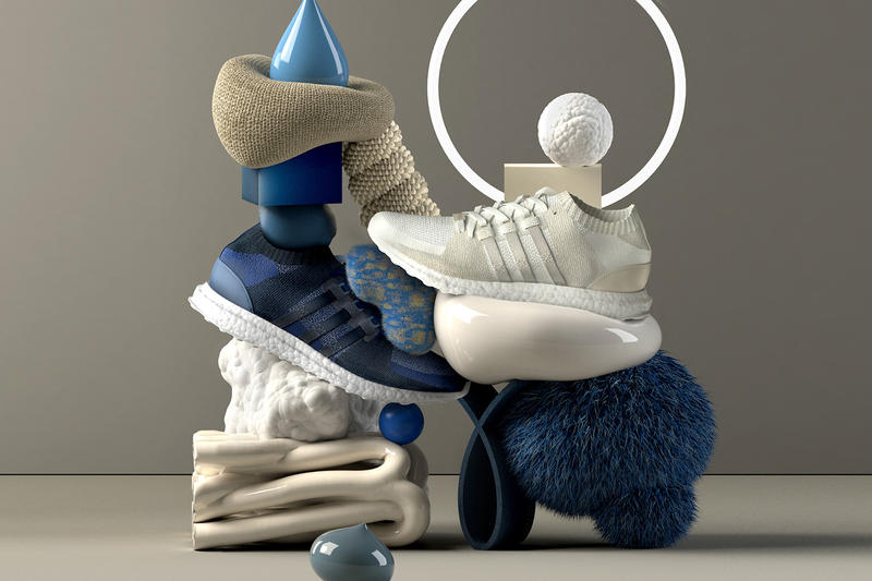 adidas Originals EQT Materials Pack Sneakersnstuff Dark Blue White boost support primeknit shapes