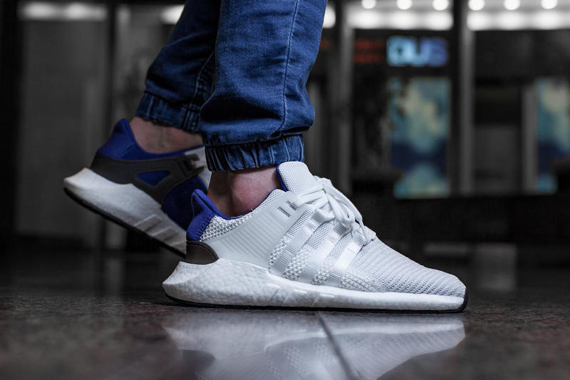 shoes for cheap classic fit fashion styles adidas EQT Support 93/17 Royal Blue On-Feet | HYPEBEAST