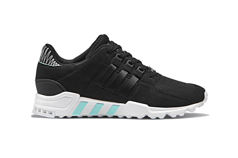 adidas Originals EQT Support RF Black White Black White Teal