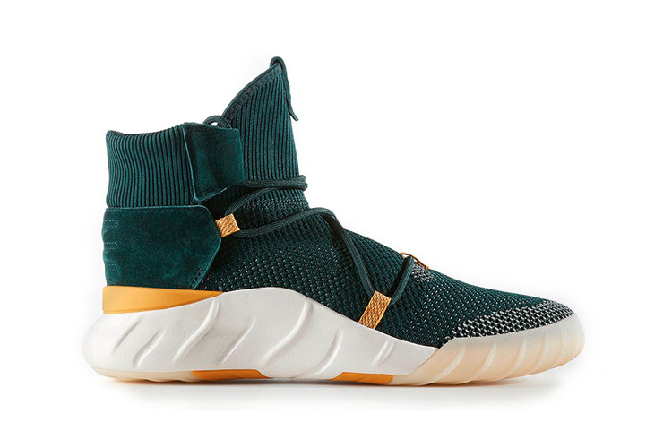 e33aaa921f1fe A First Look at the adidas Tubular x 2.0 Primeknit in Forest Green/Yellow