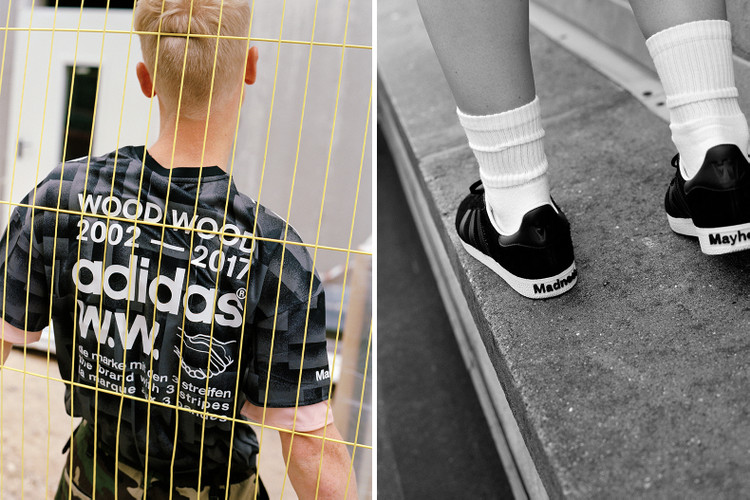 new styles b2ba8 225b8 An Exclusive First Look at Wood Wood s Football Inspired Collaboration With  adidas Originals