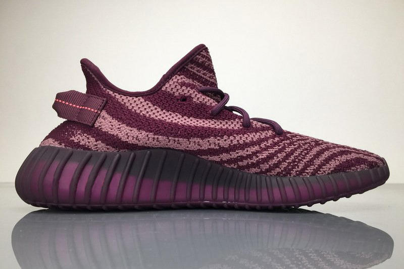 adidas YEEZY BOOST 350 V2 Red Night Images Surface purple violet plum maroon burgundy pink magenta