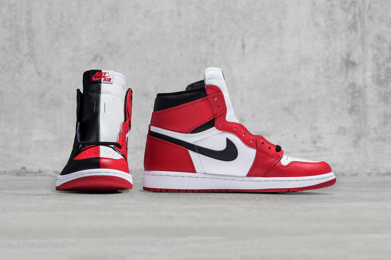 a58aee39c61e77 Air Jordan 1 Homage to Home Sample Black Red White Bred Banned Chicago  Bulls Sneakers Shoes