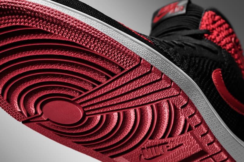 ca2413b2c49c Air Jordan 1 Retro Hi Flyknit Black White Varsity Red