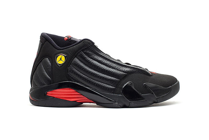 Air Jordan 14 Last Shot 20th Anniversary Retro Michael Jordan Utah Jazz Chicago Bulls Black Red 1998 NBA Finals Championship Rings