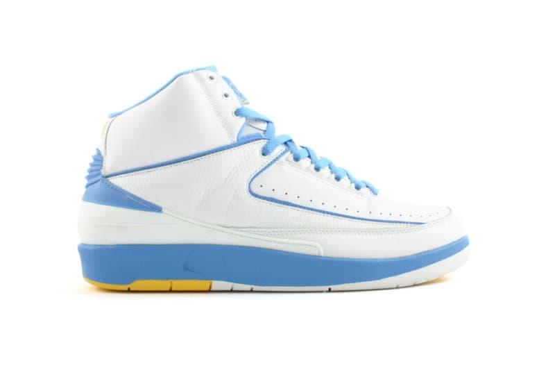 Air Jordan 2 Melo White Varsity Maize University Blue Carmelo Anthony Denver Nuggets
