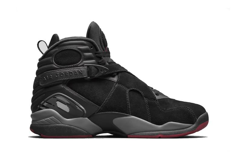 Air Jordan 8 Cement 2017 September 16 Release Date Info Sneakers Shoes Footwear black red bred suede nubuck michael brand aj8 4
