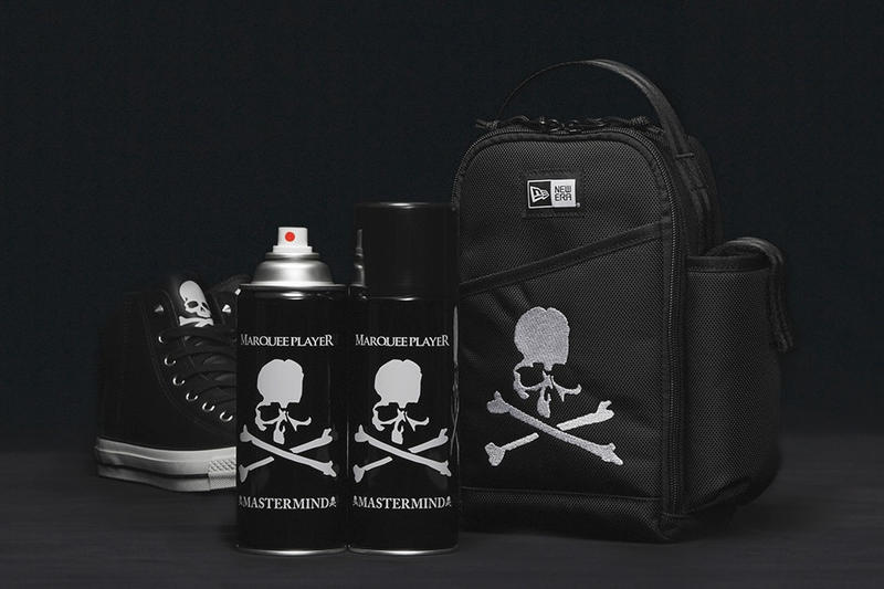 mastermind JAPAN New Era Amazon Kicks Marquee Player Repellant Spray Pack Backpack Skull and Crossbones