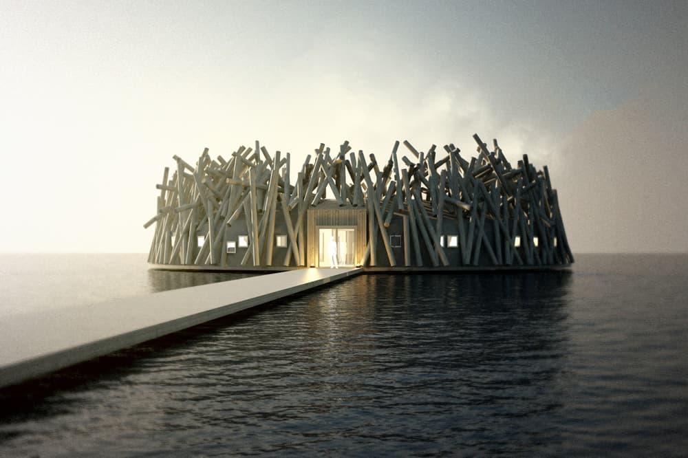 Arctic Bath Hotel Lule River Northern Lights Sweden