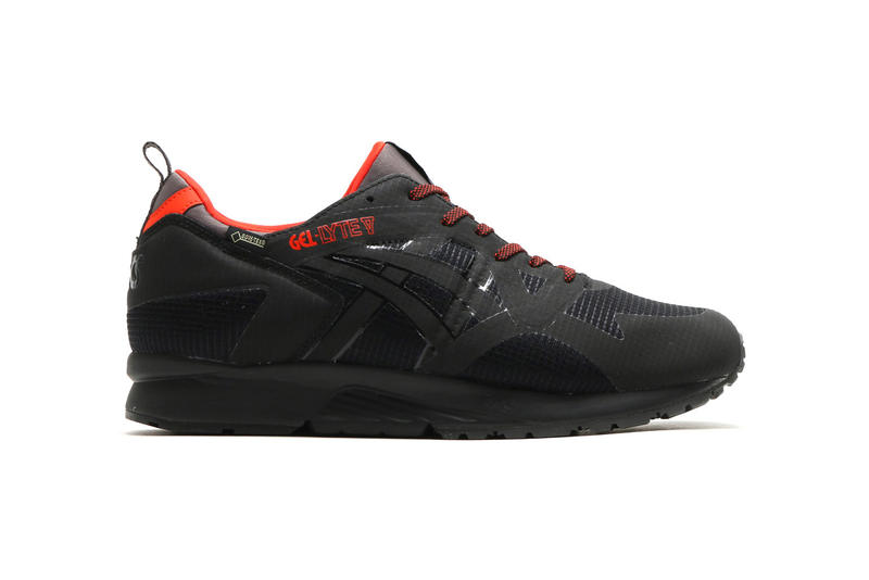 sports shoes b71a6 c49e2 ASICS GEL-Lyte V NS GT-X in Black/Red | HYPEBEAST