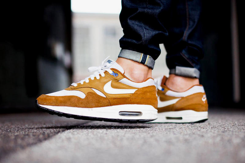 hot sales baca9 a81ab atmos Nike Air Max 1 Curry 2018 Retro Sneakers Shoes Footwear Release Date  Info 2003 rumors
