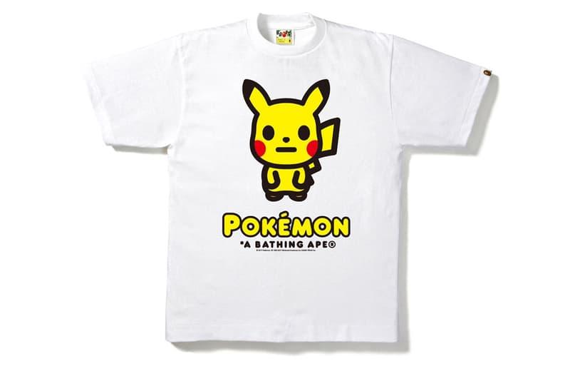 BAPE Pokemon Isetan Shinjuku Collaboration A Bathing Ape Japan Pocket Monsters T Shirts Pikachu Charmander Squirtle Bulbasaur