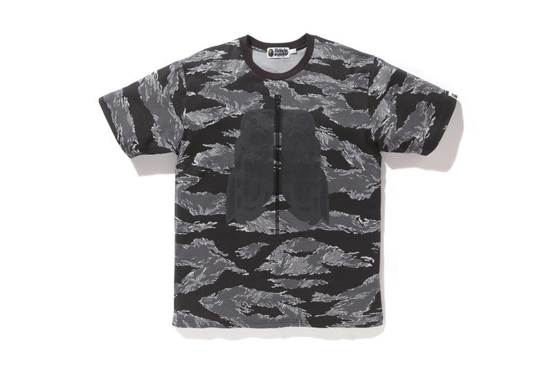 BAPE A Bathing Ape 2017 Summer Tiger CAMO Collection BAPE Black White Grey Hoodie T Shirt Tee Sweatshirt Cap Hat Ape Shall Never Kill Ape