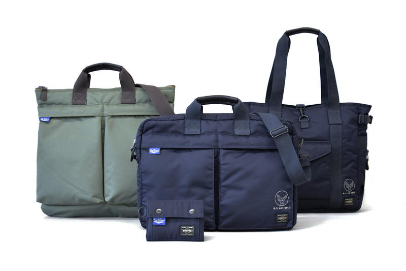 Buzz Ricksons Porter 2017 Fall Winter Collection Collaboration Navy Blue Olive Drab Bags Shoulder Tote Wallet