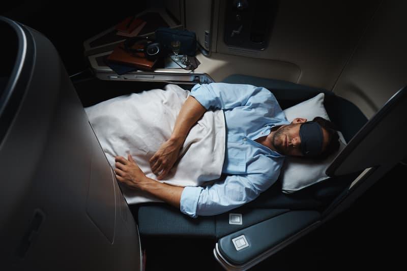 Cathay Pacific Giveaway aircraft interior sleep mode