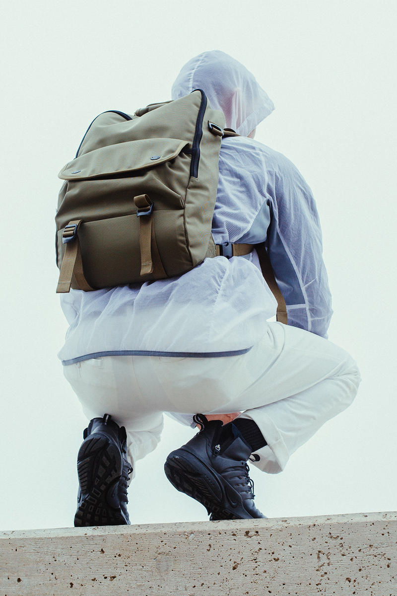 DSPTCH Moss Ballistic Nylon Collection Bags Packs Daypack Ruckpack Bookpack Gym Work Bag Pack Backpack Rucksack Dopp Kit
