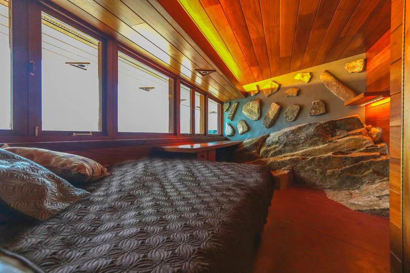 Frank Lloyd Wright Private Island On Sale for $14.9 Million Massaro House Island Mahopac Lake home Lake Mahopac New York