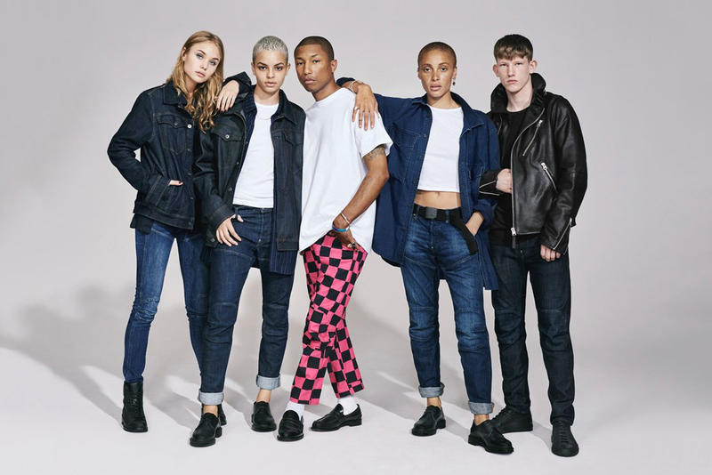 G STAR RAW 2017 Fall Winter Campaign Pharrell Williams Lennon Gallagher Adwoa Collier Schorr collection photos lookbook