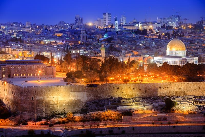 Jerusalem Dome of the Rock Cityscape