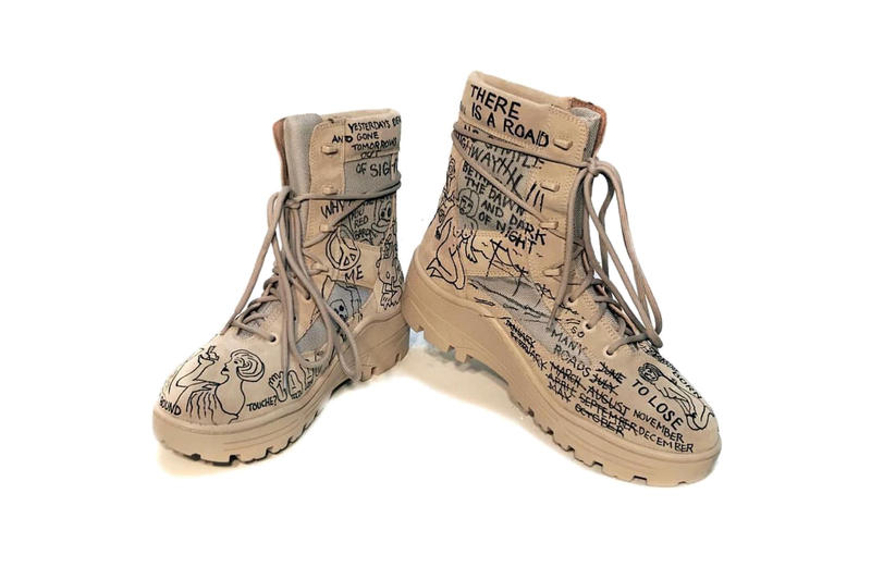 Matt McCormick John Mayer YEEZY SEASON 4 Custom Military Boots Kanye West Footwear Fashion Luxury
