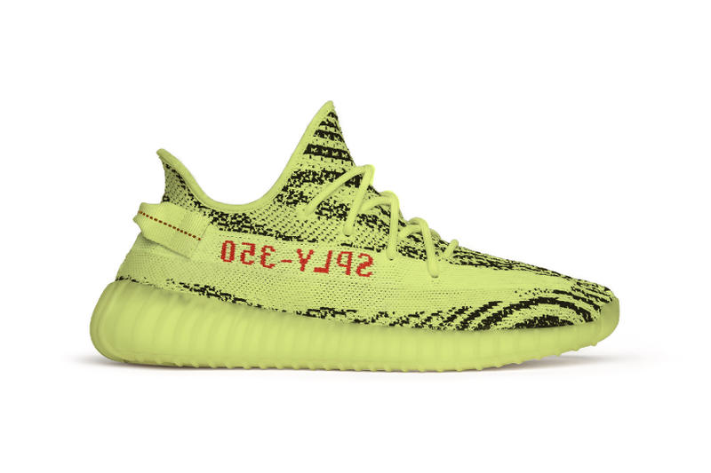 Kanye West adidas YEEZY BOOST 350 V2 Semi Frozen Yellow On Foot wearing wears airport traveling