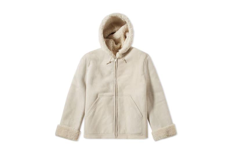 6314b5416eac7 Kanye West YEEZY SEASON 5 Short Long Shearling Jacket Birch Ink Off White  Black Blue 2017